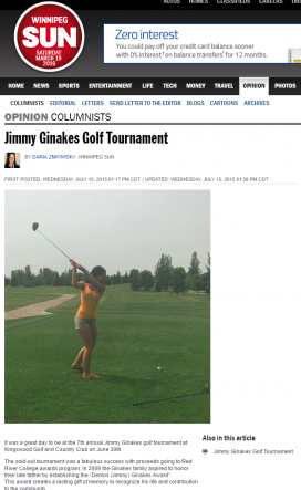 20150715@Sun Jimmy Ginakes Golf Tournament