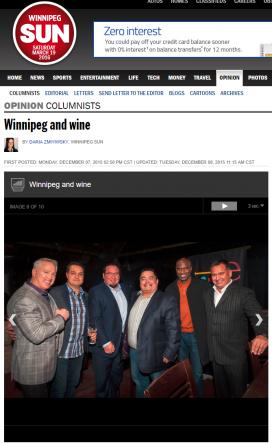 20151208@Sun Winnipeg and wine