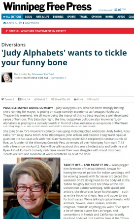 20140321 'Judy Alphabets' wants to tickle your funny bone